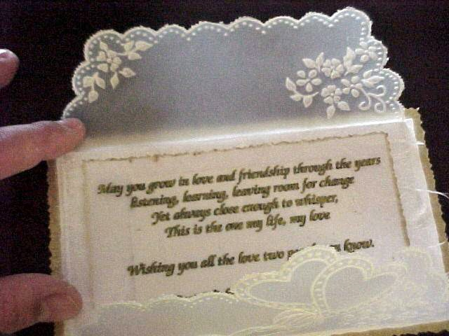 Pergamano wedding card