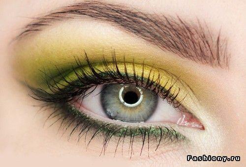Желтый + зелёный (Miss Heledore) / макияж жёлтыми тенями
