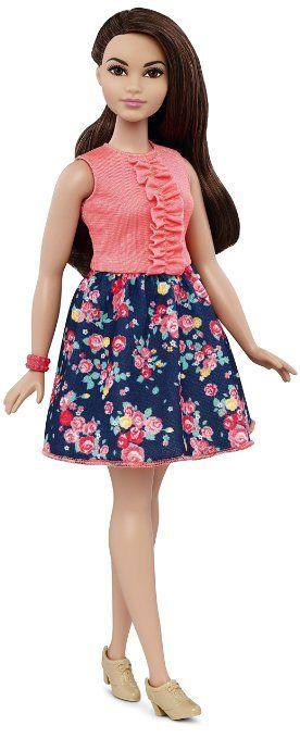 Mattel Barbie DMF28 - Modepuppe, Fashionista im pink/blauen Blumenkleid…