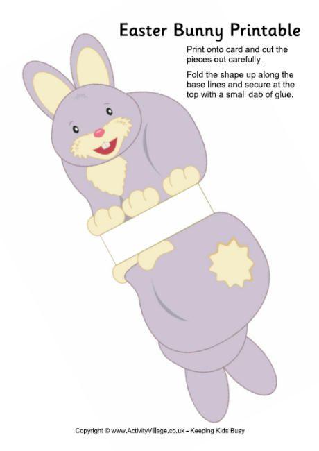 Easter bunny printable