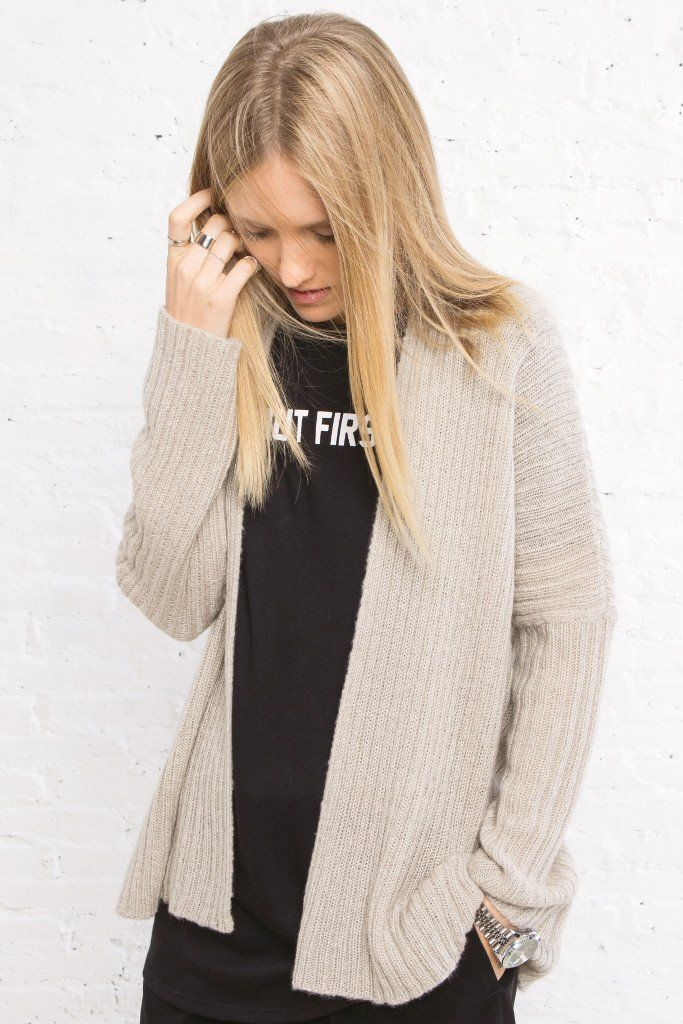 Wooden Ships by Paola Buendia | Women's Dana Ribbed Cardigan Sweater | Wooden Ships Knits