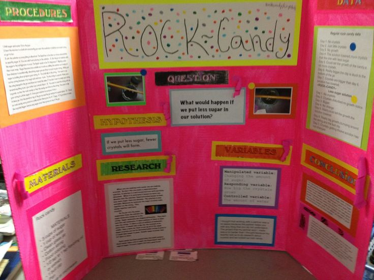 science fair projects with candy