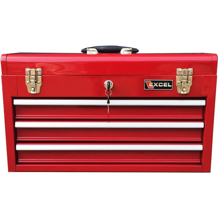 Excel Hardware 3-Drawer Portable Tool Box TB133