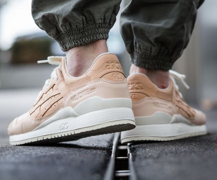 The Asics Gel Lyte 3 Veg Tan is showcased in a lifestyle perspective. Find it at select Asics stores on Feb. 18th.