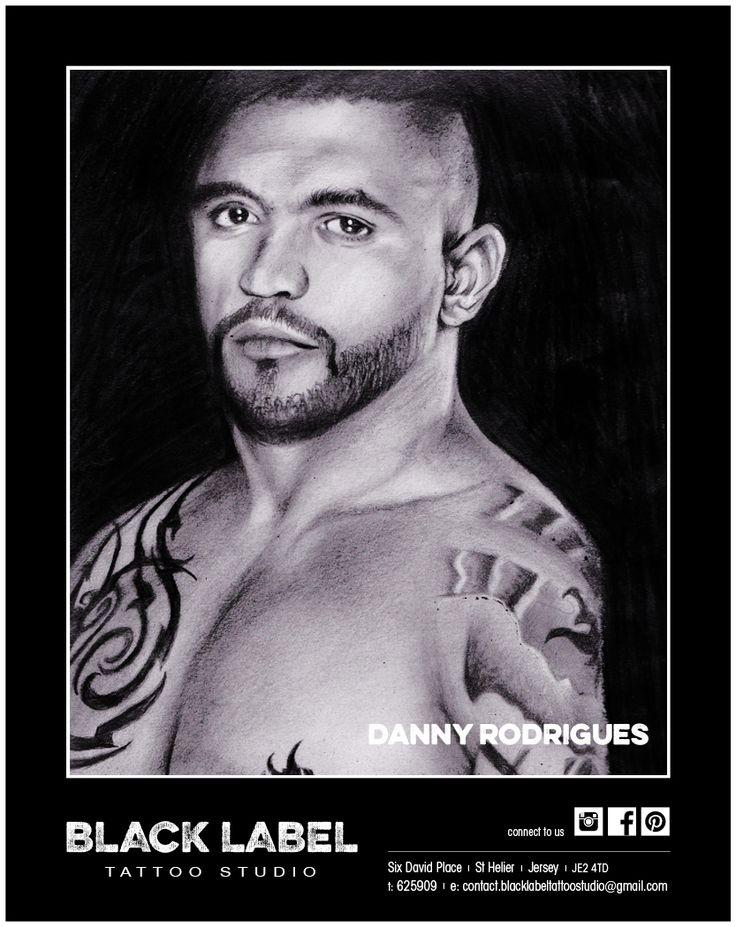 "Black Label Tattoo Studio | Artist: Danny Rodrigues ""Liam McGeary"" | Pencil Drawing, Sketch, Portrait"