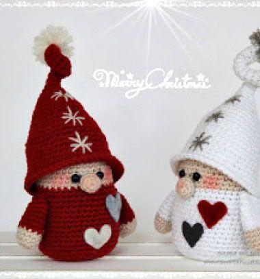 Amigurumi Christmas gnomes ( free crochet pattern ) // Horgolt karácsonyi manók ( ingyenes horgolásminta ) // Mindy - craft & DIY tutorial collection