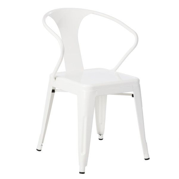 White Tabouret Stacking Chairs (Set of 4) $244