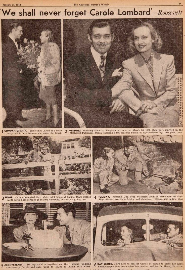 Newspaper article from January 31, 1942 that profiled Carole Lombard and Clark Gable's marriage. It was published shortly after Carole's death.
