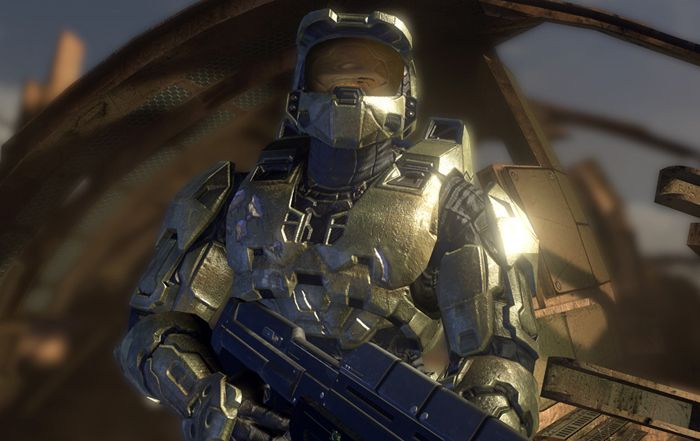 Halo 3: I like how in this picture there is a shine across the soldiers arm , it gives of a heroic look to the soldier. From the armour he is wearing you can tell that it is futuristic and it looks very extravagant and gives a heroic feel and mood. The colours are very green/brown.