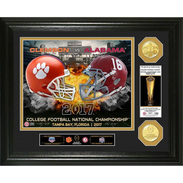 Alabama Crimson Tide vs. Clemson Tigers Highland Mint College Football Playoff 2017 National Championship Bound Dueling Photomint - $99.99