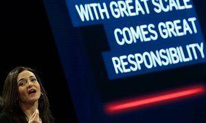 Image: Named and mocked … Facebook chief operating officer Sheryl Sandberg.