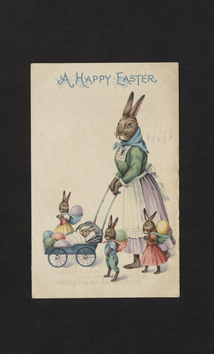 'A HAPPY EASTER' Easter Postcard. 1910-1936