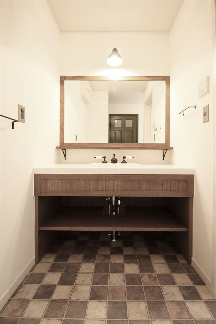 造作洗面台/洗面室/ナチュラル/注文住宅/インテリア/ジャストの家/washstand/lavatory/powderroom/bathroom/vanity/natural/design/interior/house/homedecor