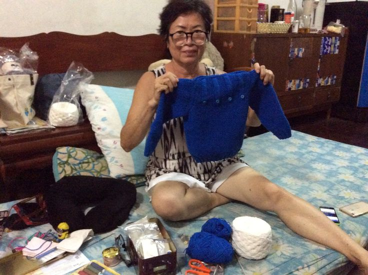 Knitting made by self 005