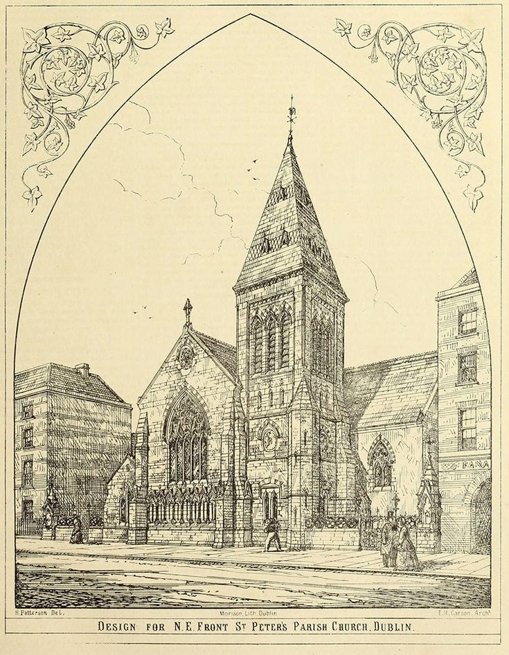 1867 - St. Peter's Church of Ireland, Aungier Street, Dublin - Architecture of Dublin City, Lost Buildings of Ireland - Archiseek - Irish Architecture