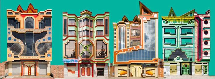 Mira las coloridas mansiones que han poblado en los últimos años las calles de El Alto, en Bolivia. Los llaman cholets y son el símbolo de la burguesía aimara.