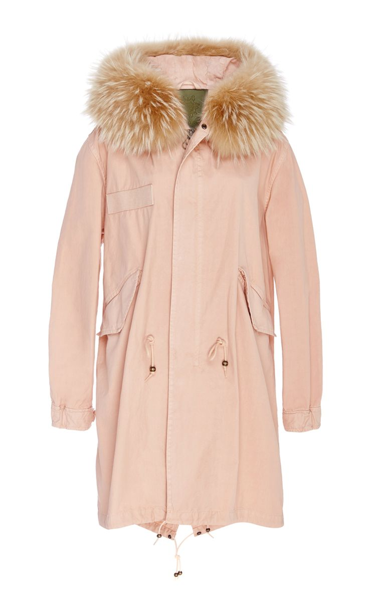 Racoon Trimmed Unlined New Marble Canvas Parka - Mr & Mrs Italy Resort 2016 - Preorder now on Moda Operandi