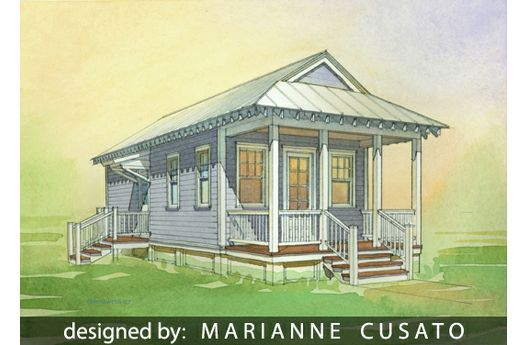Katrina cottage house plan 514 6 for 544 sq ft with 1bed for Dwell small house plans