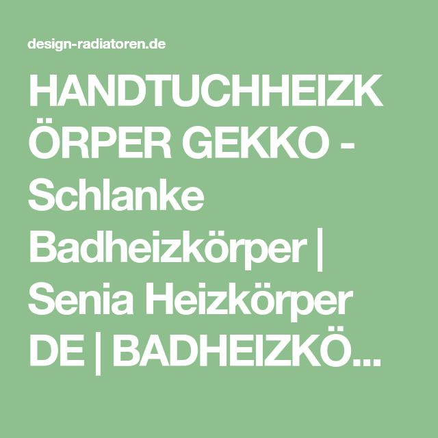 The 25+ best Handtuchheizkörper ideas on Pinterest Heizkörper