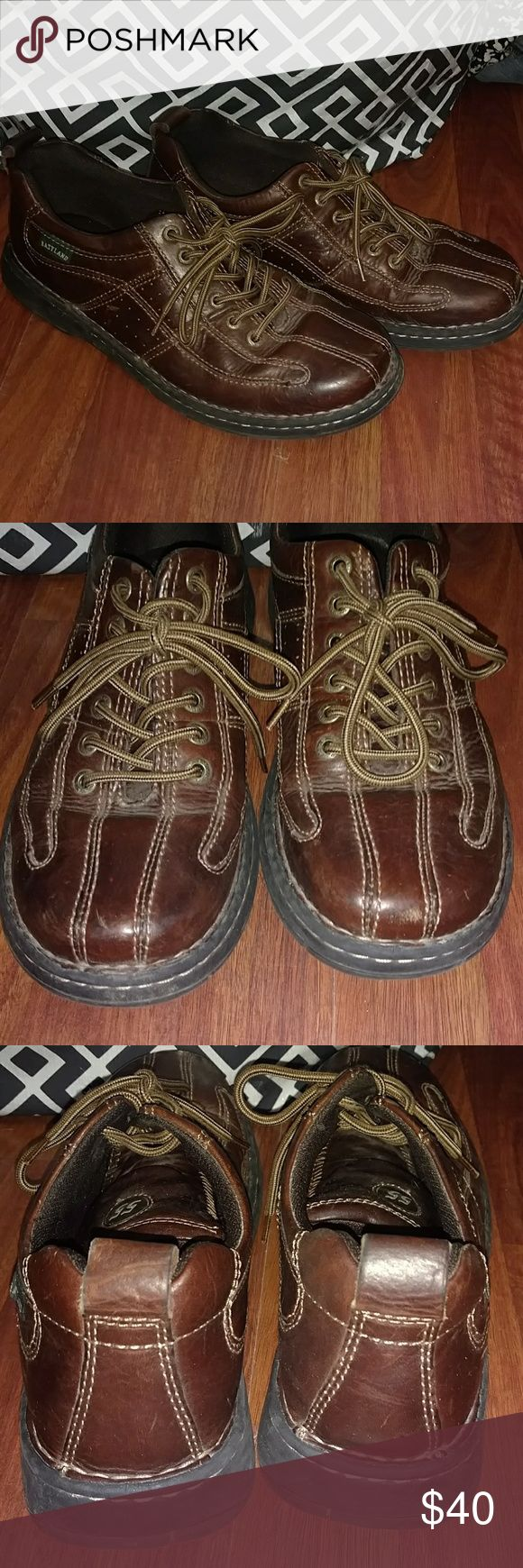 Men's Eastland 55 Brown Leather Shoes Very nice condition Genuine Non-Marking Rubber. Leather Upper Balance. Eastland Shoes Oxfords & Derbys