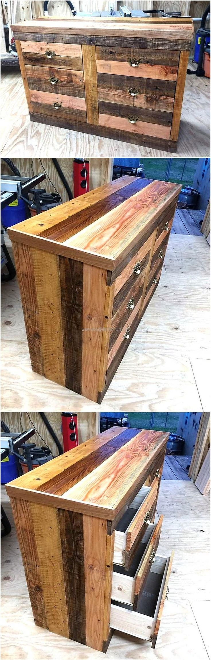 Dressers are available in the furniture store at high rate, but a bedroom is incomplete without it. It is not difficult to create a dresser at home and here is the idea to create a 6 drawer dresser which will make the room look great as it gives good looks.