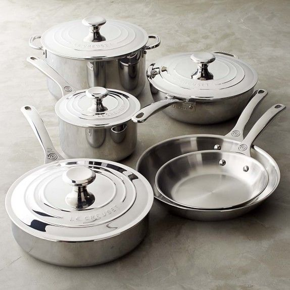 Le Creuset Stainless-Steel 10-Piece Set | Williams-Sonoma