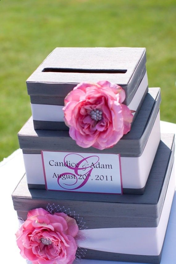 DIY Wedding Card Box, I'd have mine matching my wedding cake maybe alternated colours :)