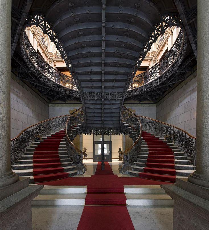 Palácio da Liberdade – staircases, Belo Horizonte, Brazil,