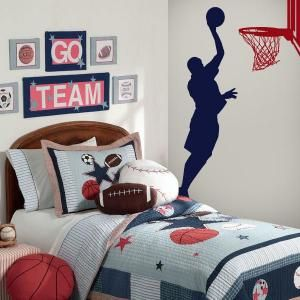 Vinilos decorativos paredes basketball habitaci n pau pinterest decorat - Deco basketball chambre ...
