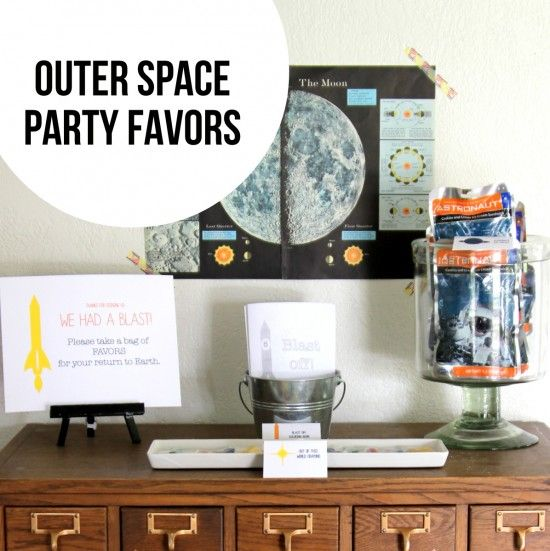 outer space party favors  {One Charming Party}
