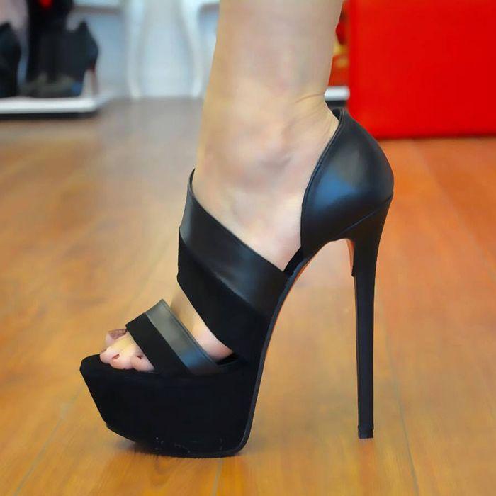 Deep blue Chunky heel sandals