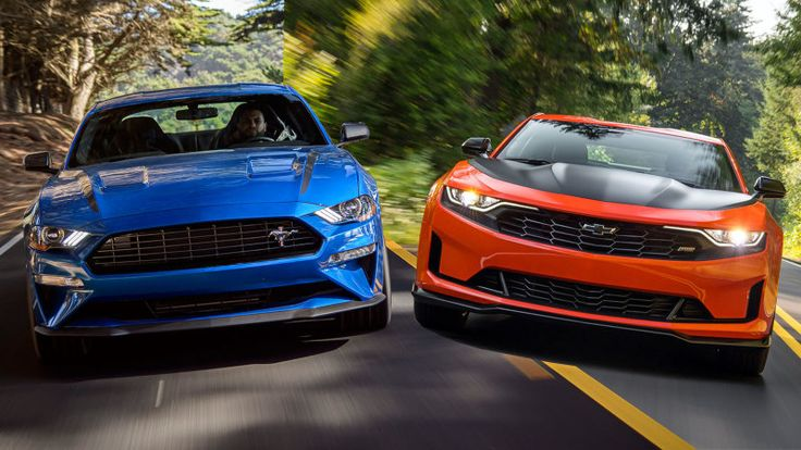 2020 Ford Mustang EcoBoost HPP compared with 2019 Chevy
