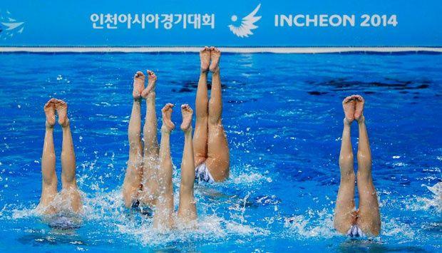 Tim Renang Korut dan Makau Berlatih Jelang Asian Games
