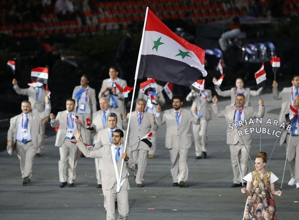 Majed Aldin Ghazal, Syria's Flag Bearer at the Opening Ceremonies of the 2012 London Olympic Games #London2012