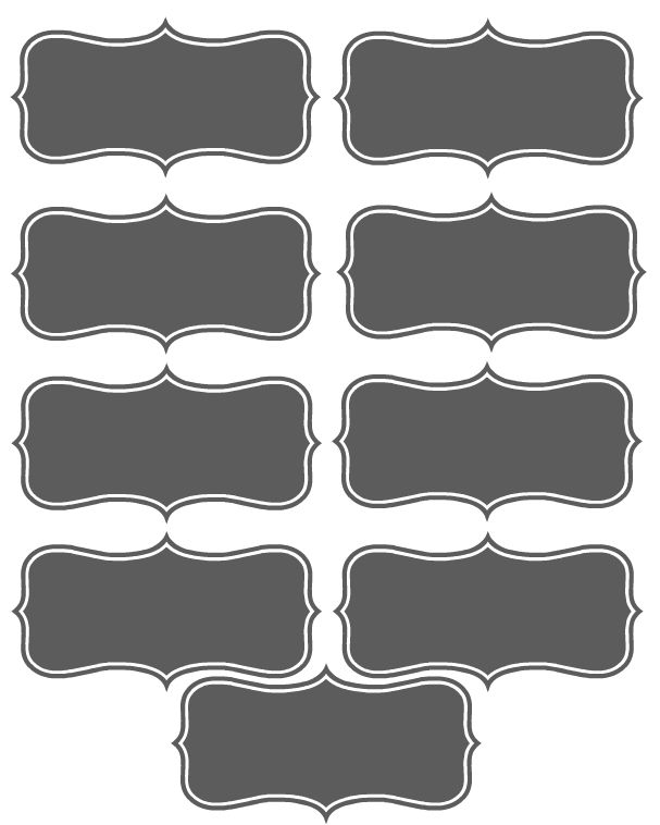 How to make your own FREE Chalkboard Printable Labels or Place Cards on Pickmonkey.com - Super easy to follow instructions!