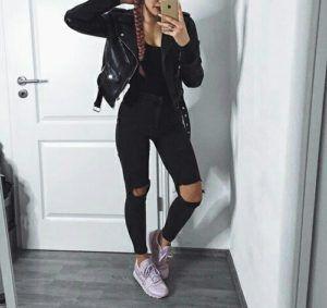 outfits con cuero
