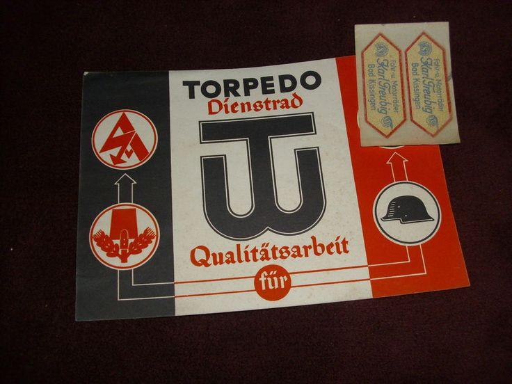 Werbeblatt    Torpedo  Fahrrad  Dienstrad   1938  Frankfurt