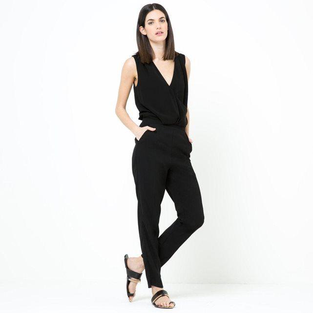Combi-pantalon col V croisé LAURA CLEMENT