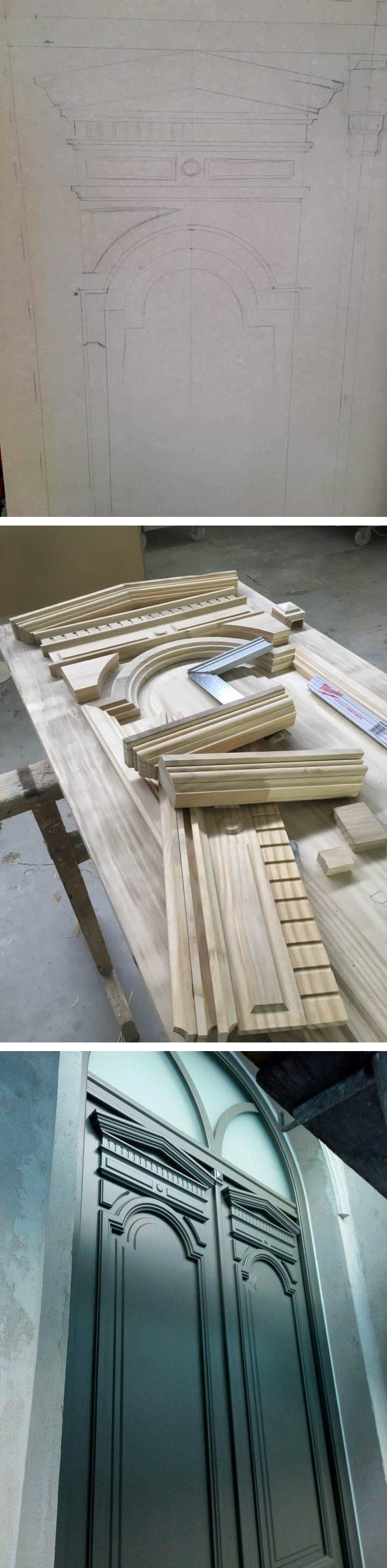 From scratch to finish! Accoya wood neoclassical door