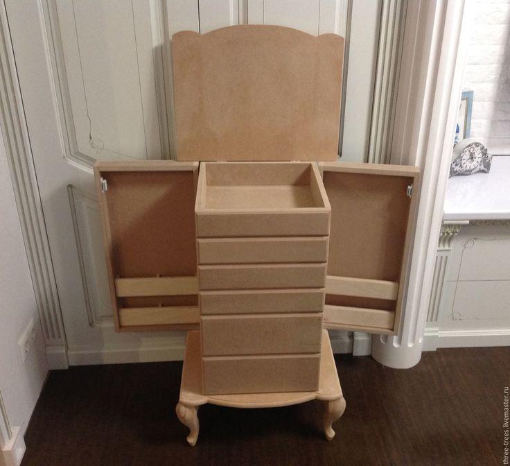 Купить Заготовка Комод большой с ножками кабриоль - бежевый, заготовки из дерева, Заготовки из фанеры, заготовки из мдф