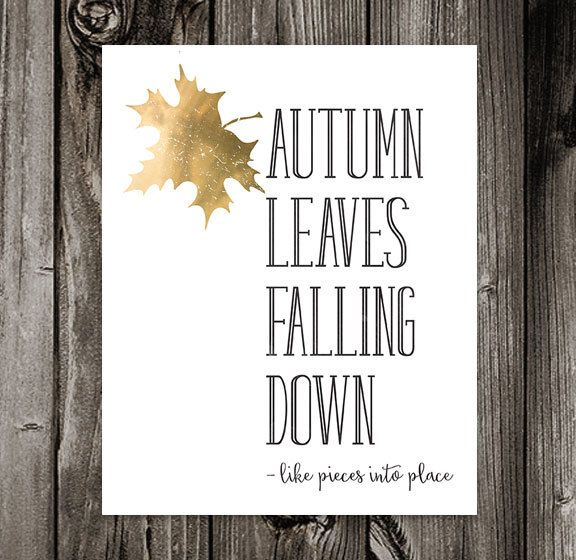 Autumn Leaves Falling Down. Printable Quote. Taylor Swift Lyrics. All Too Well Lyrics. Fall Wall Art. Poster Print. 8x10 300 dpi jpg file by off2market on Etsy