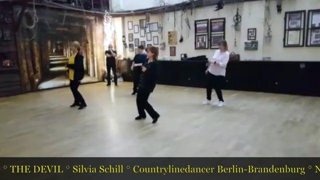 THE DEVIL, Silvia Schill COUNTRY Line Dance / 11/2017 32 count, 4 wall, Intermediate Line Dance Music: Devil by The Wandering Hearts     http://www.copperknob.co.uk/de/stepsheets/the-devil-de-ID121780.aspx  http://www.copperknob.co.uk/stepsheets/the-devil-ID121795.aspx  http://www.get-in-line.de/dances/The%20Devil_-_Schill.htm   http://www.linedancemag.com/the-devil/    http://www.country-linedancer.de/