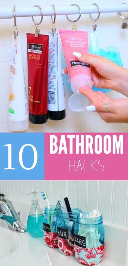 10 bathroom hacks