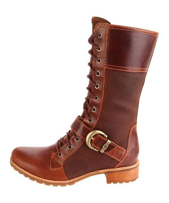 Medium Brown Bethel Buckle Mid Boots