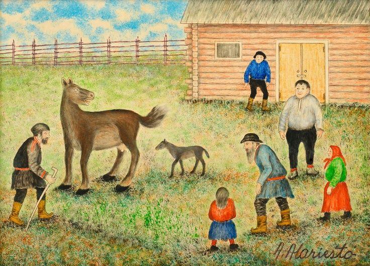 Andreas Alariesto (1900-89) The Suikki Man cures the Horses - Finland