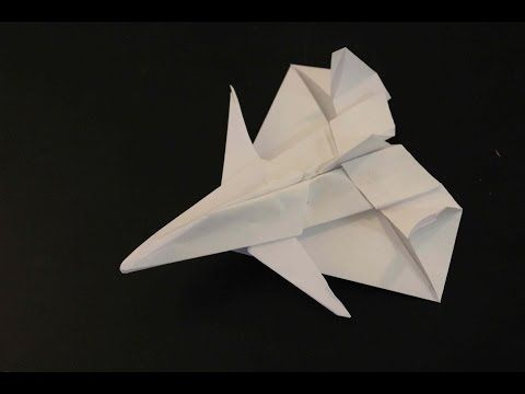 How to make a paper plane: F-14 TOMCAT - YouTube