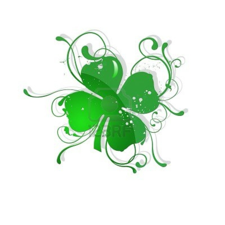 4 leaf clover st patric day Stock Photo