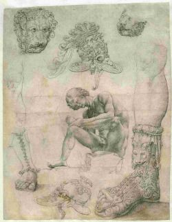 """dianavanwijk: """" Jan Gossaert, Sheet with a study after the Spinario and other sculptures. 263 x 205 mm, 1508-1509, Prentenkabinet Leiden University Library. Gossaert seems to have been the first Northern European painter who was invited by a maecenas..."""
