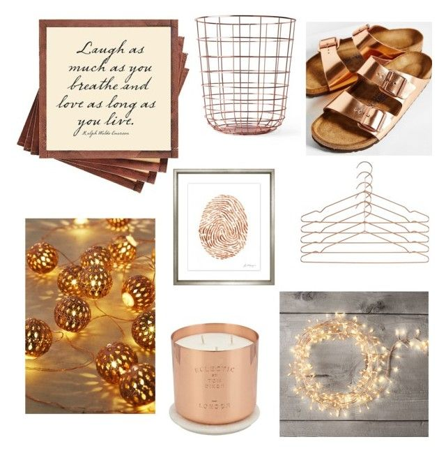 """Copper"" by fridasaaa on Polyvore featuring interior, interiors, interior design, home, home decor, interior decorating, Birkenstock, Tom Dixon, HAY and Restoration Hardware"