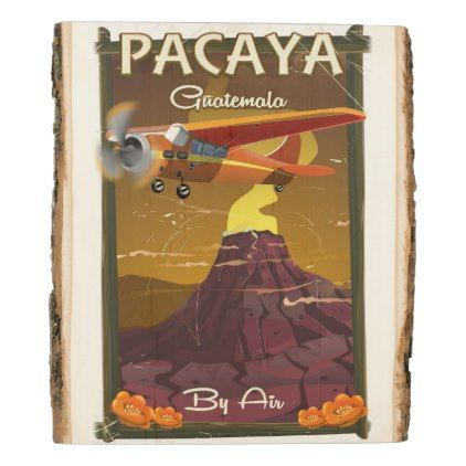 #Pacaya Volcano Guatemala travel poster Card Wood Panel - #travel #trip #journey #tour #voyage #vacationtrip #vaction #traveling #travelling #gifts #giftideas #idea